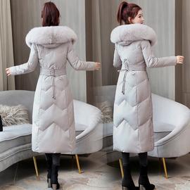 品牌长款羽绒服女士2020年冬季新款修身中长款过膝加厚白鸭绒外套