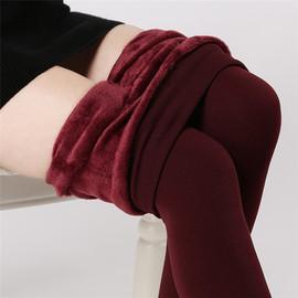 秋冬季一体保暖棉裤加肥加大码妈妈中年高腰外穿加绒加厚打底女裤