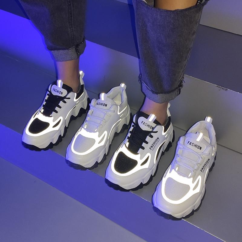 网红老爹鞋子女ins潮百搭透气小白鞋2020夏季新款厚底休闲运动鞋