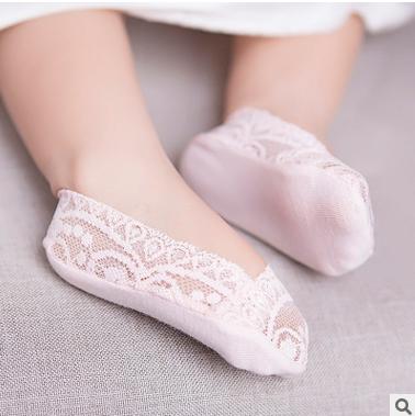 Девочки носки весна кружево кружево носки хитрость носок принцесса носок мелкий рот тонкий носок скольжение в моделье между родителями и детьми носок
