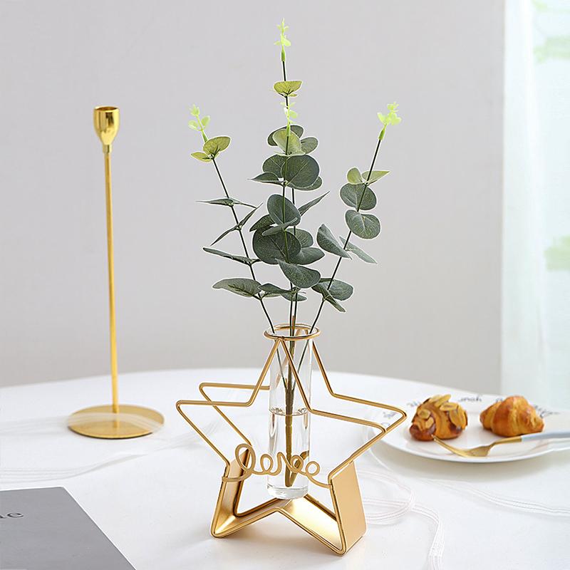 北欧创意小清新水培试管花瓶摆件客厅ins风干花插花器餐桌装饰品