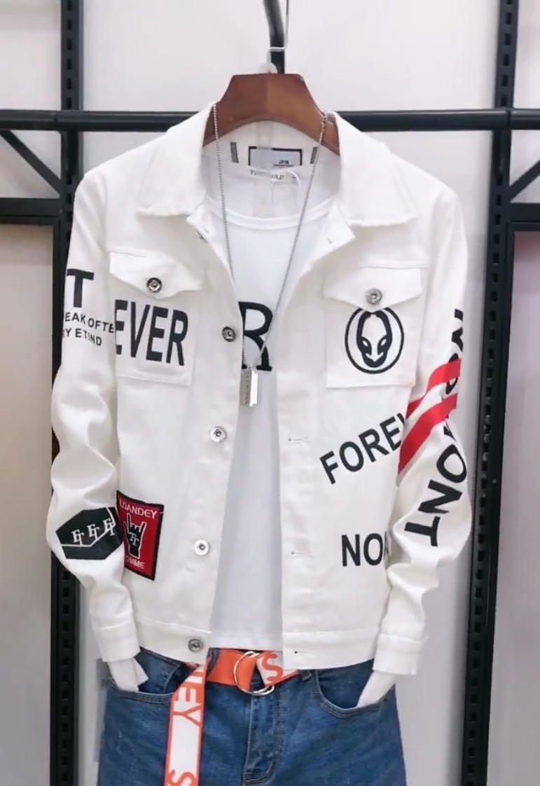 男士牛仔衣抖音快手红人同款外套2020新款社会精神小伙韩版夹克潮