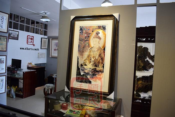 85*135顾氏苏绣佛,十方三世佛,1-2丝工艺刺绣作品