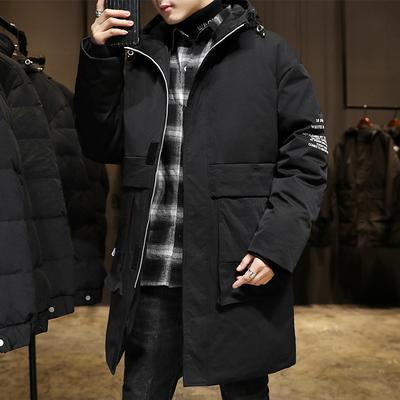 GKO(服饰)冬季男士羽绒服韩版中长款2020年新款帅气加厚外套潮