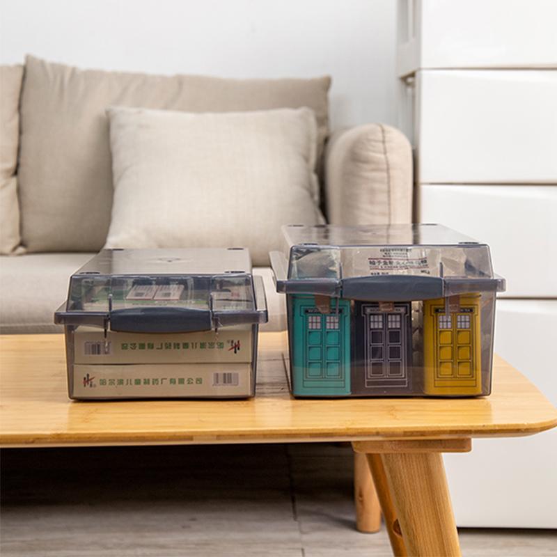 アリス透明の文房具とお菓子の台所収納整理箱アリスプラスチックデスク収納ボックス