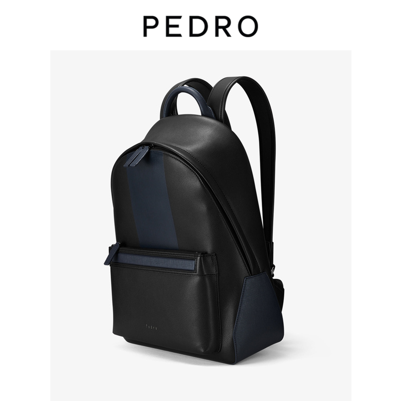 PEDRO casual backpack men's color matching large capacity lightweight zipper backpack PM2-26320058