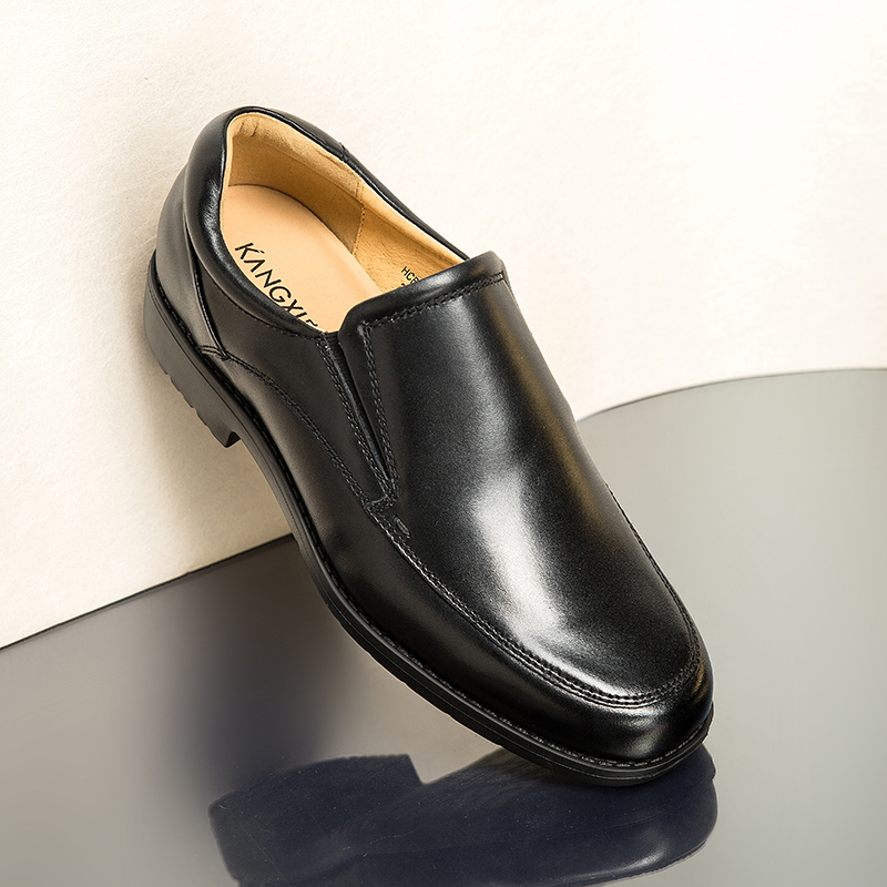 Hengcheng Kangxi super light business casual shoes rubber foam sole leather mens single shoes mens single leather shoes comfortable leather