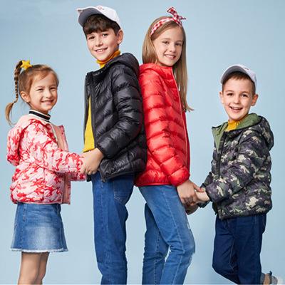巴拉男童女童轻薄羽绒服2020秋冬季新款儿童羽绒服白鸭绒羽绒外套