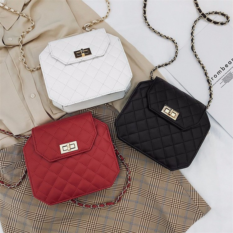 bcd2c0f4a 2019 New Bag female car stitching chain plaid small bag white-collar  business ol crossbody bag Korean version hundred | ezbuy.my