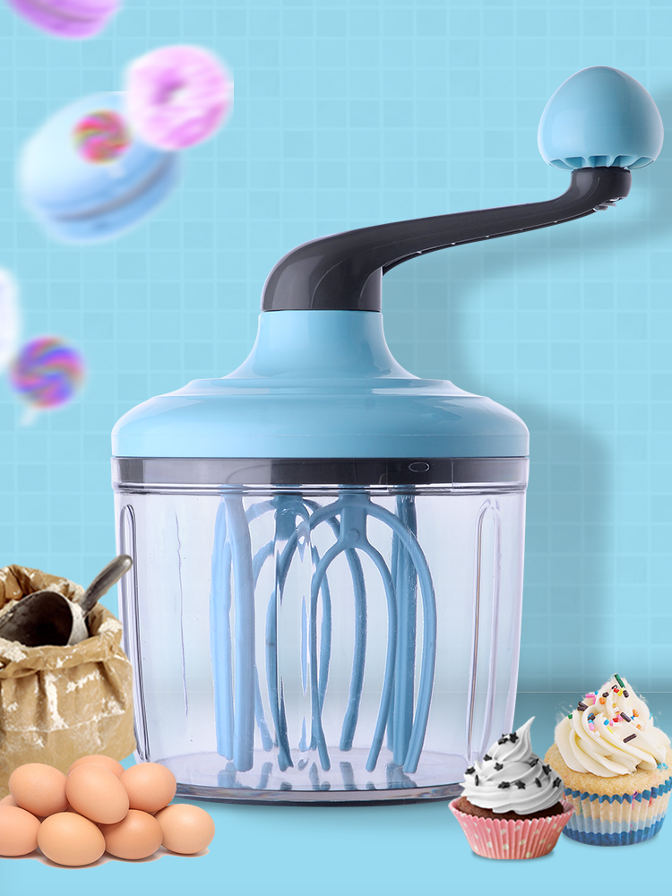 Ice cream beater manual household mini hand non electric egg white cream beater mixing and baking tool