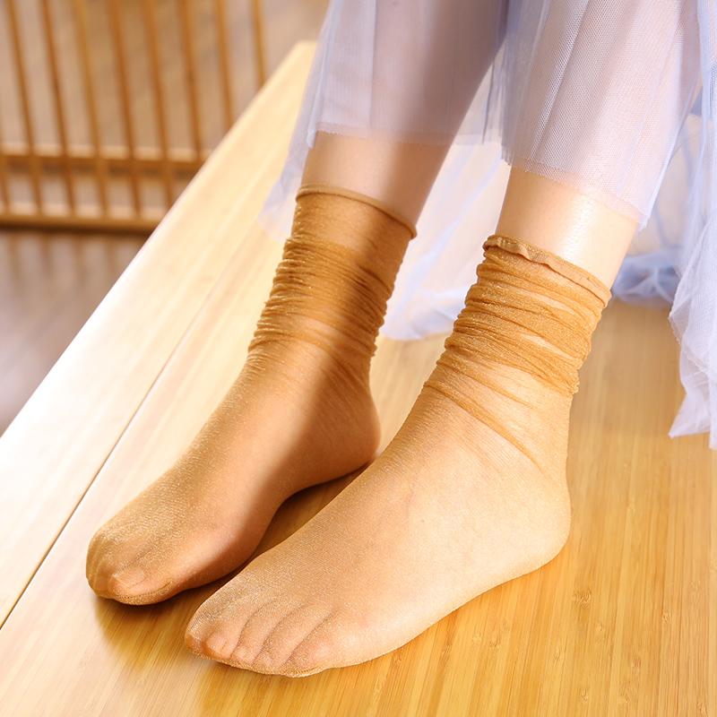 满19.80元可用9.9元优惠券2双炫闪堆堆袜潮流仙女糖果色丝袜