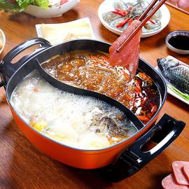 鸳鸯电热火锅家用插电多功能一体不粘锅大容量4-6-8人厨房小电器图片