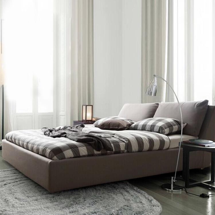 Ткань кровать съемный двуспальная кровать 1.8 калахари кровать брак кровать небольшой квартира простой хранение современный спальня мягкий кровать