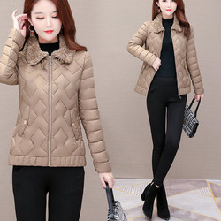 乔纳阿迪达短款羽绒棉服女2020新款冬季韩版修身保暖轻薄款休闲棉