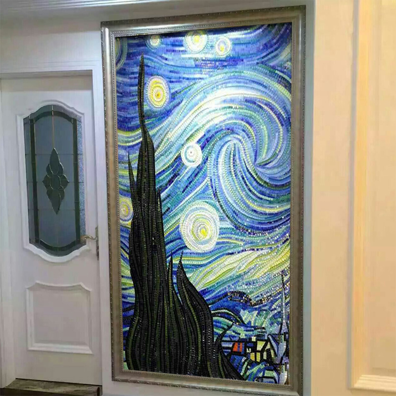 满290.00元可用145元优惠券欧式水晶马赛克拼图玄关餐厅背景墙