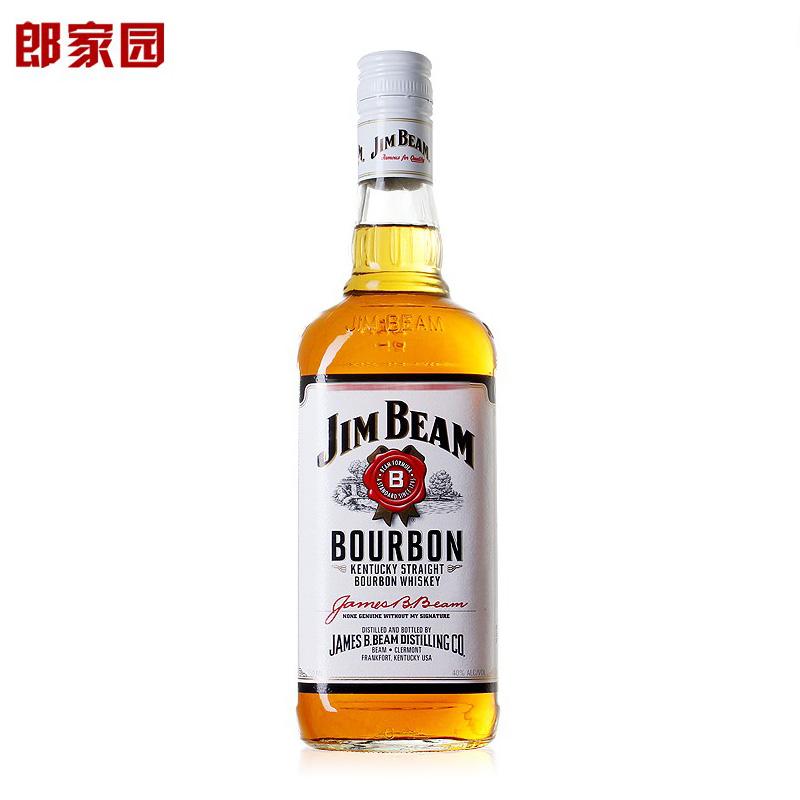 洋酒JimBeam whiskey美國白占邊波本威士忌酒