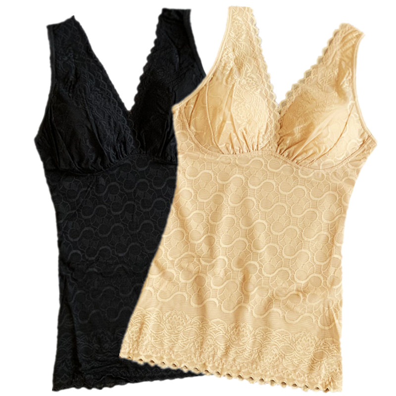 Summer thin and ultra thin body tight underwear corset waist top with bra abdomen shaping tank top for women