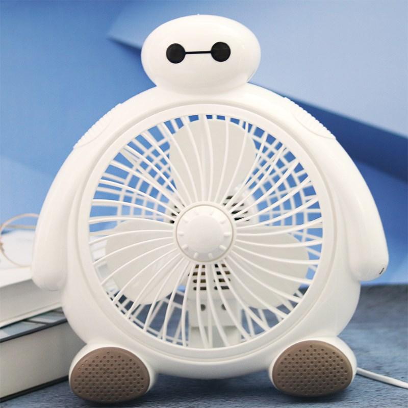 卡通小台扇家用静音 台式电风扇学生宿舍床上办公室桌面迷你电扇