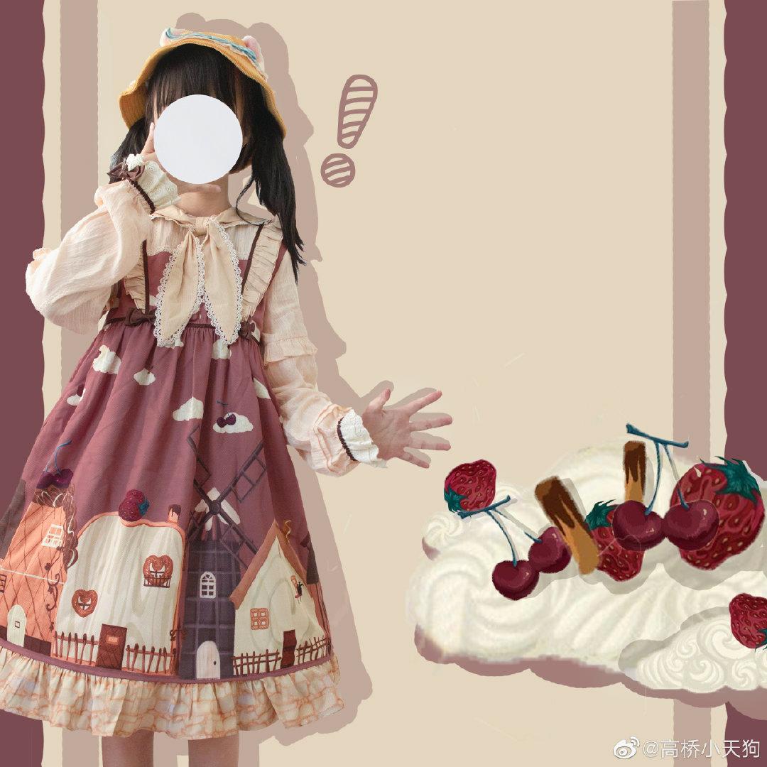 Kiwikitty toast town OP original Lolita autumn winter sweet rabbit ear Lolita
