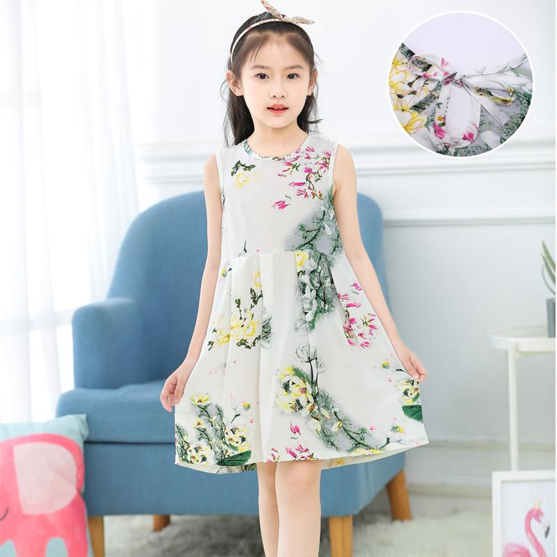 女童睡裙夏季睡衣棉绸公主薄款吊带裙纯棉中大童小女孩可爱连衣裙