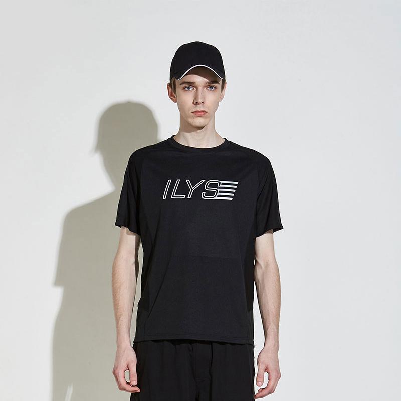 ILYS男装t恤2019年新款夏季纯色简约休闲男士圆领棉短袖上衣衫