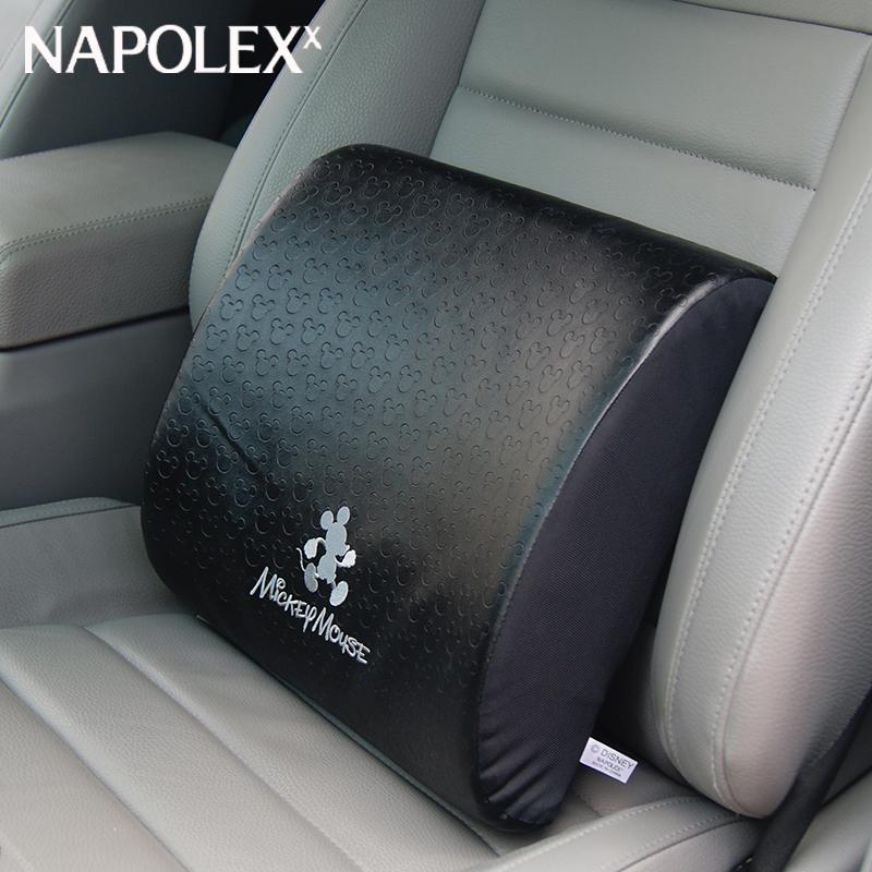 米奇 記憶棉汽車腰靠頭枕車內靠背靠墊腰枕 車用護腰墊護頸枕