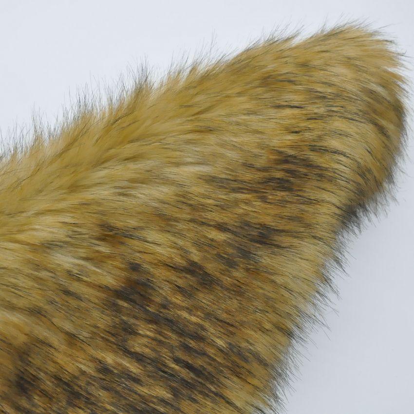 媲美真皮草 高仿皮草 貉子毛 长毛绒 大衣外套毛领长毛绒布料面料