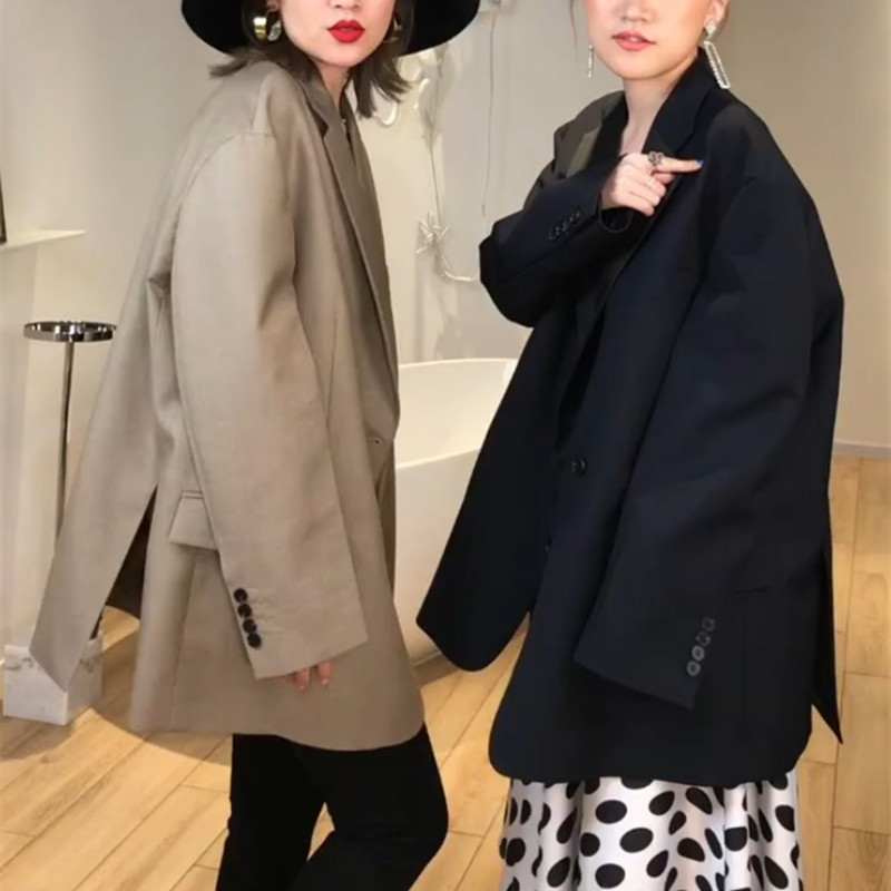 Customized 2019s / s silhouette oversize net red small suit suit suit coat for women loose casual
