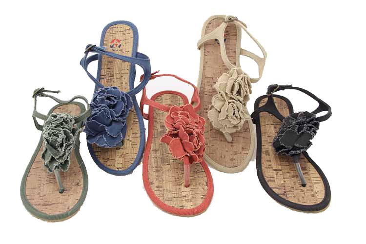 Simple non slip flip flop student sandals clip toe beach shoes womens shoes flat shoes rose flower shoes