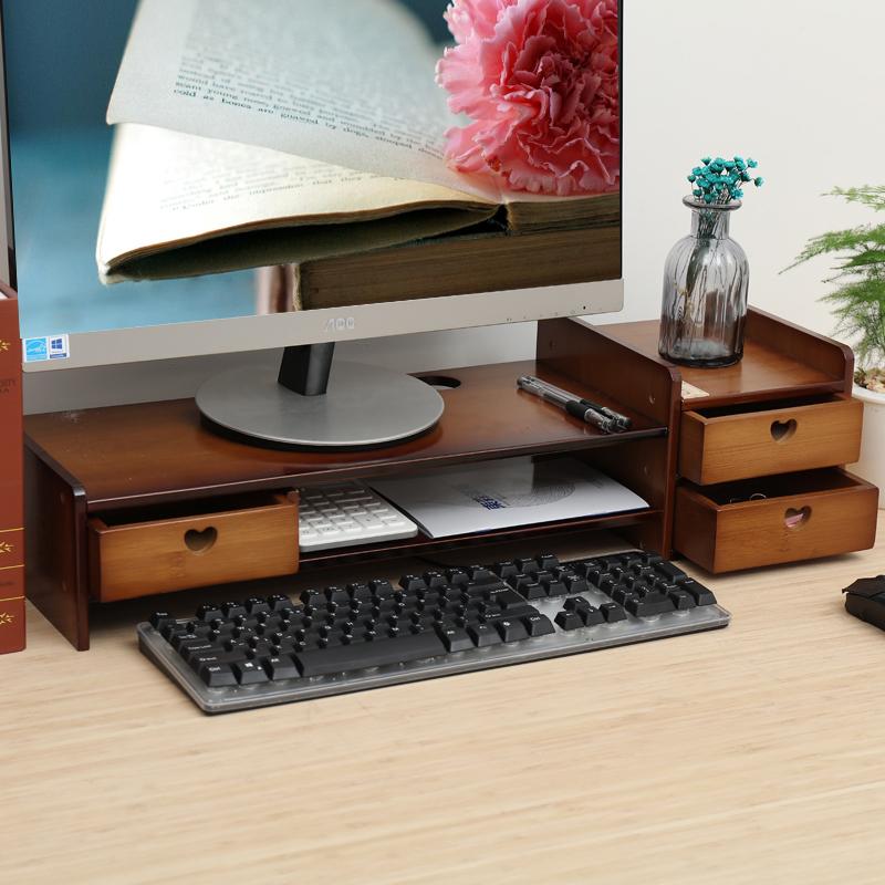 液晶电脑显示器增高架屏幕底座托架办公室桌面键盘置物架收纳整理