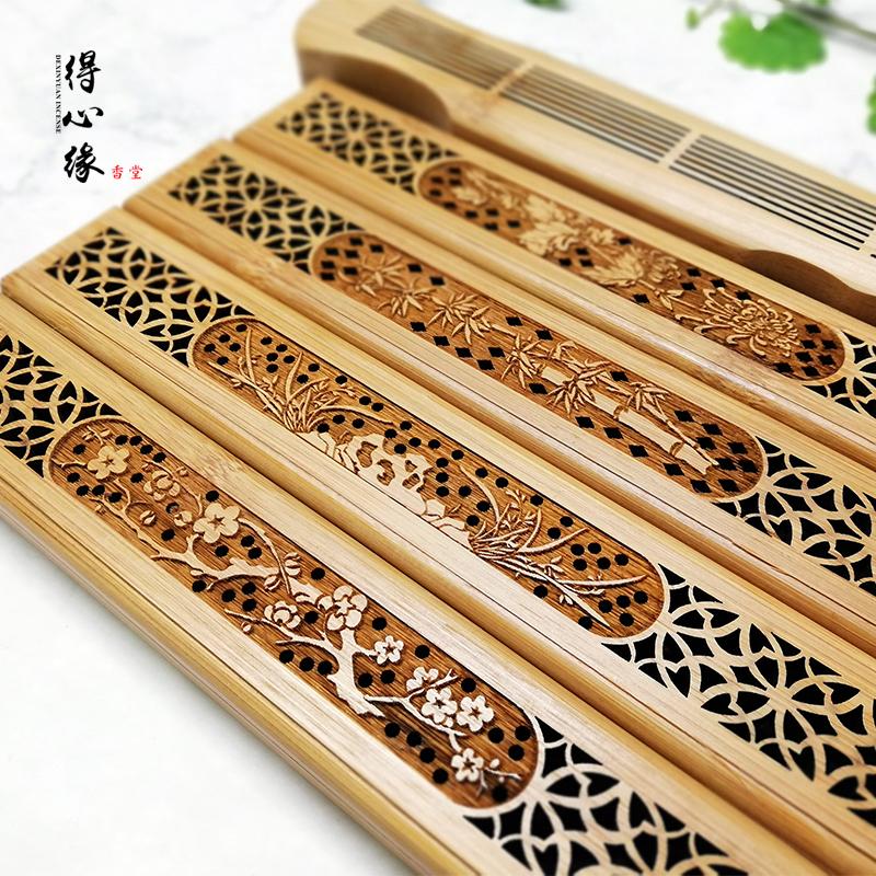 心縁の白檀の香の線の香の箱の竹の制の沈香を得ます。