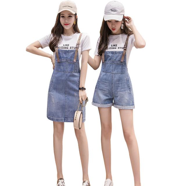 闺蜜装姐妹装牛仔背带裙女夏季2021新款韩版减龄连衣裙套装裙子潮