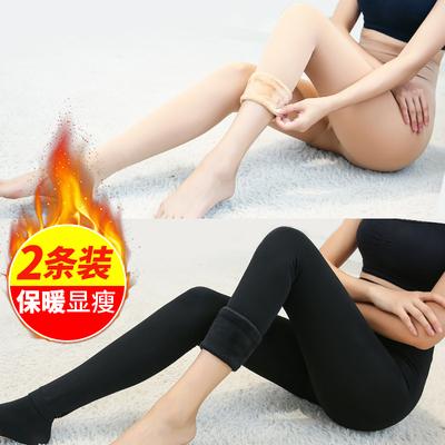 肉色加绒打底裤袜光腿裸感美腿神器女秋冬肤色连脚丝袜加厚连裤袜