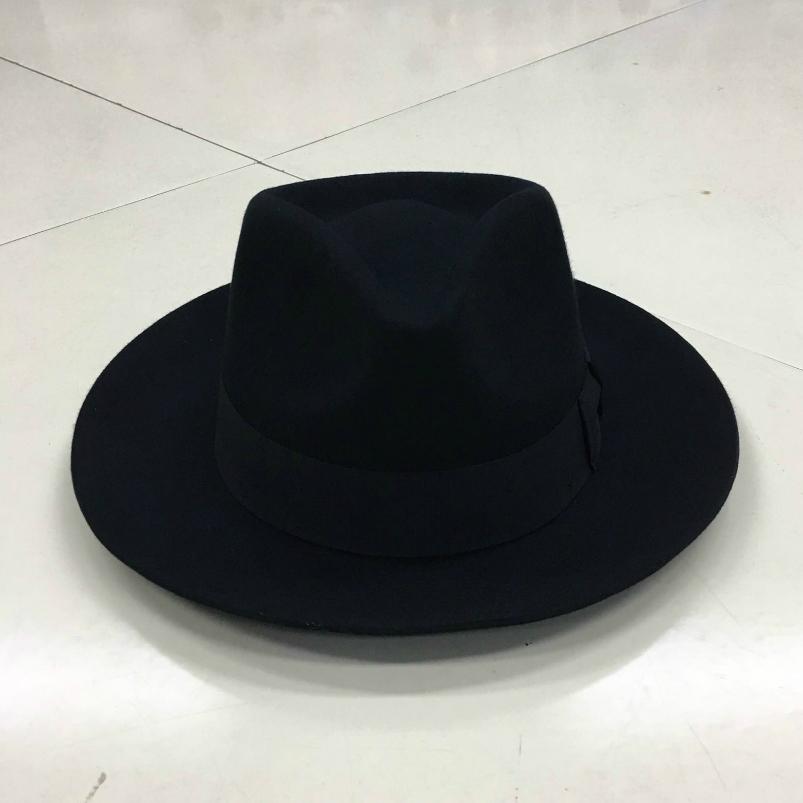 Baoyou Lihua brand wool top hat Shanghai beach Xu Wenqiang Zhou Runfa gentleman hat jazz hat Big Brim Hat
