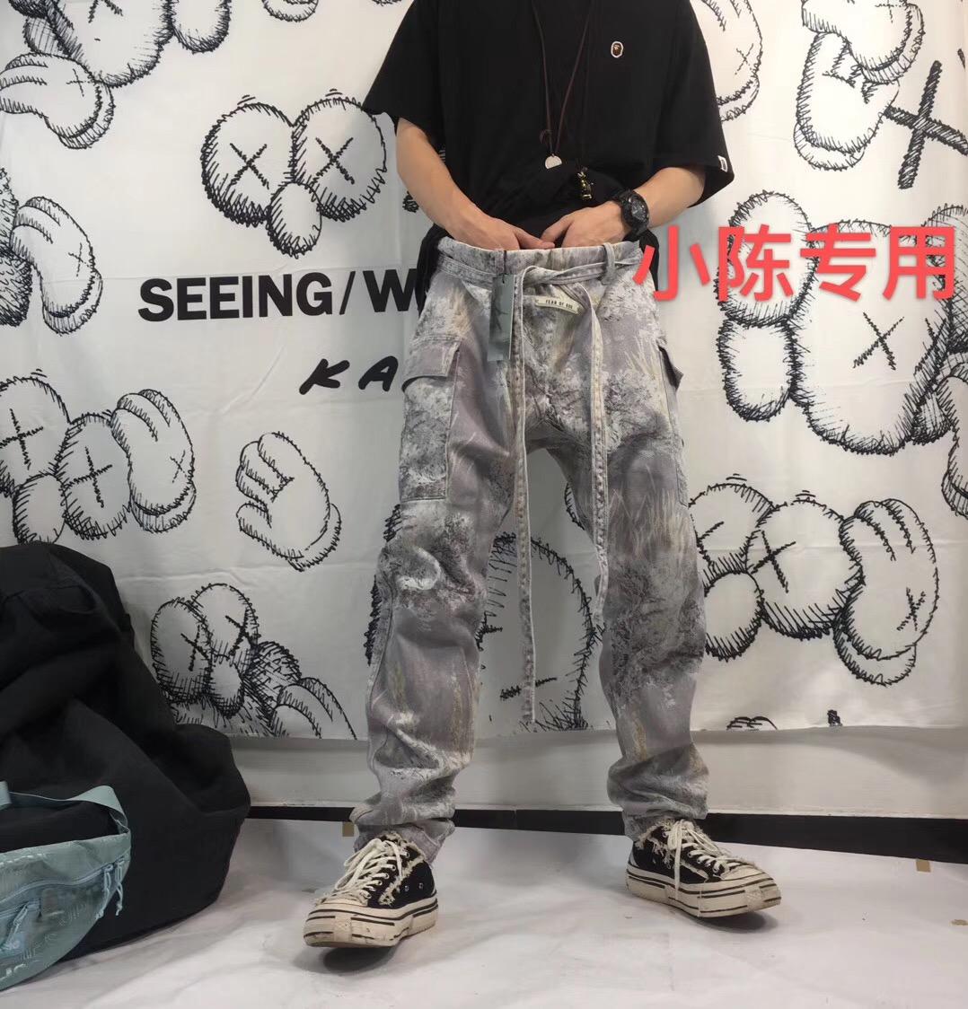 硬核单品 FOG牛仔裤 FEAROFGOD第六季花卉锥形高街树枝抽绳休闲裤 thumbnail