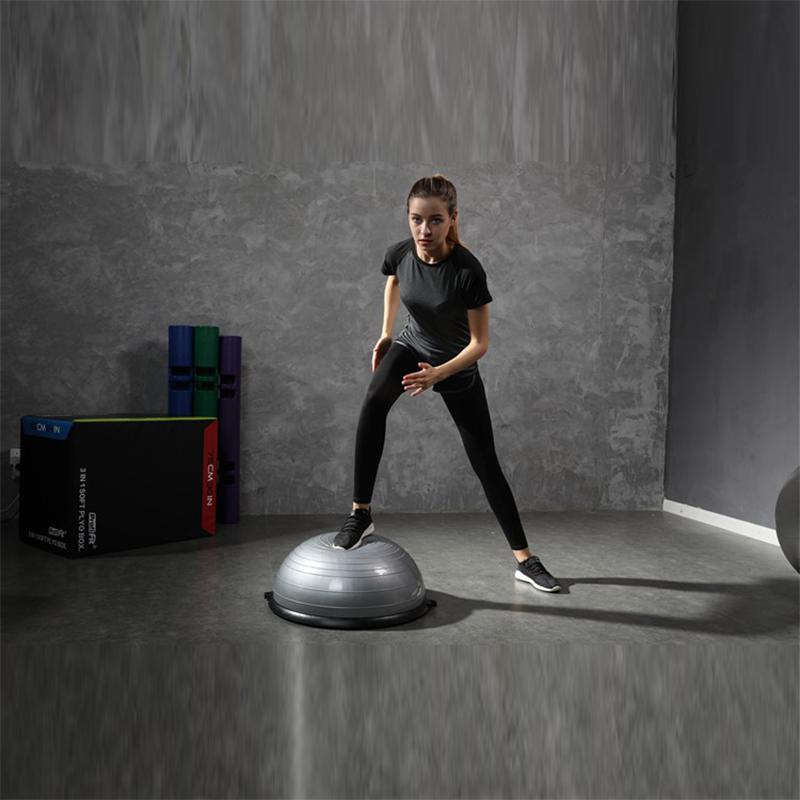 办公室普拉提瑜珈球瑜伽半圆球摆件半球波速球健身球瑜伽球,可领取30元天猫优惠券