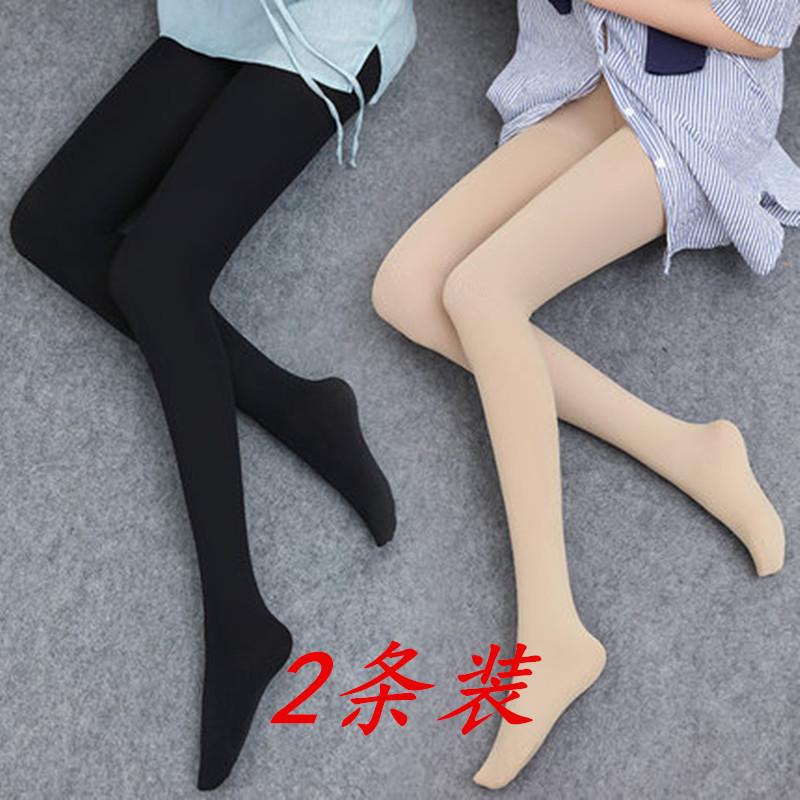 织奢肉色打底裤光腿袜神器超自然连裤连体瘦腿黑丝袜女薄款春秋款