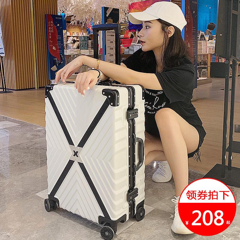 铝框拉杆箱网红ins行李箱男女万向轮24寸韩版学生旅行箱密码箱子图片