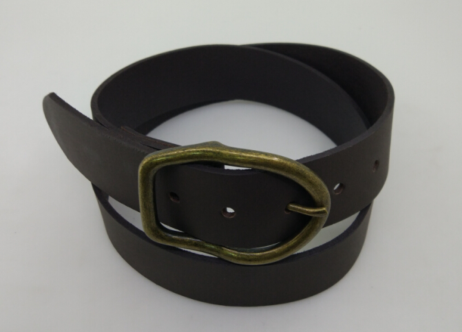 Imported pure cow leather Japanese button wide mens and womens leather belt vegetable tanning Korean version British version