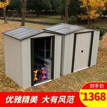 樓頂簡易房鐵皮房戶外庭院花園工具房組裝儲物房移動果園農具屋