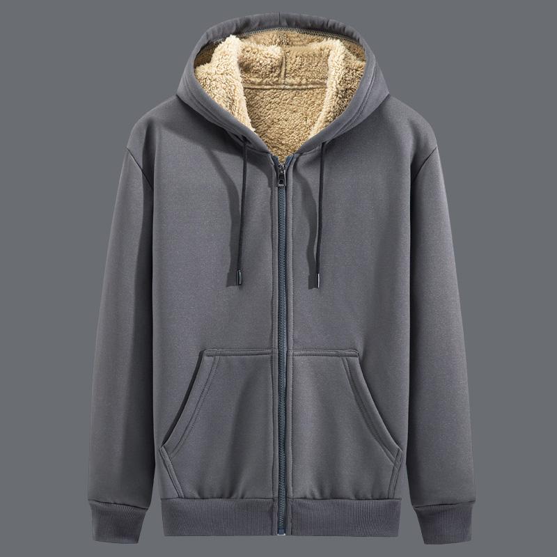 (过期)烈岩旗舰店 这个冬天不怕冷加绒开衫卫衣运动服 券后58元包邮