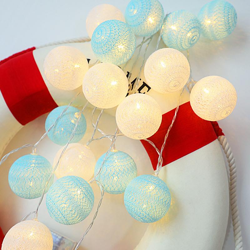 棉线球LED小彩灯闪灯串灯满天星网红卧室改造房间布置装饰星星灯