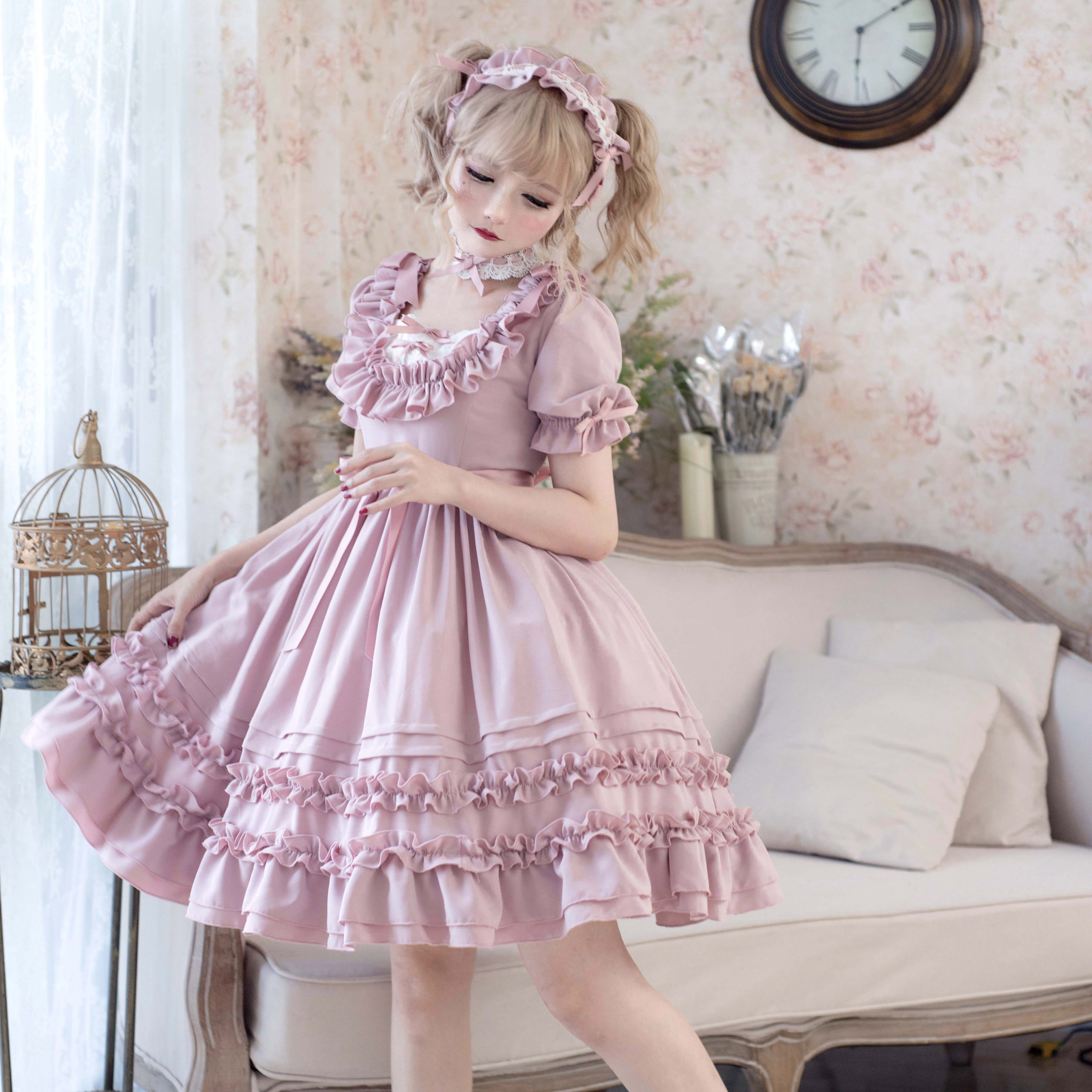 Rabbit and baabaabaa song of time three chapters lovely daily original Lolita Lolita short sleeve OP small things in stock