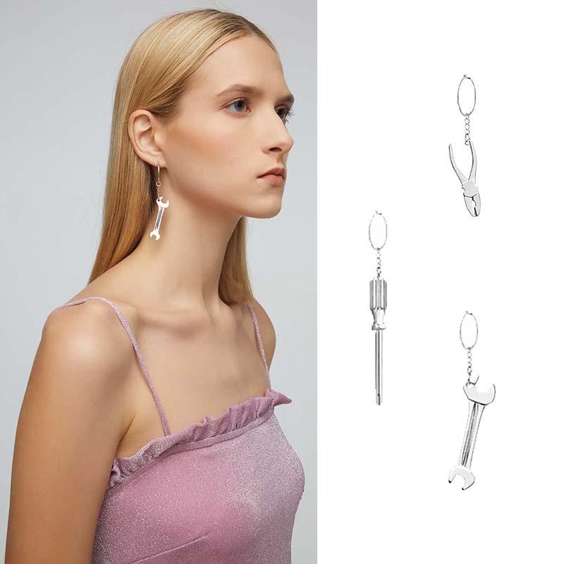 设计师品牌Sei Carina Y钳子螺丝刀扳手耳环19秋冬新品河岸家美物