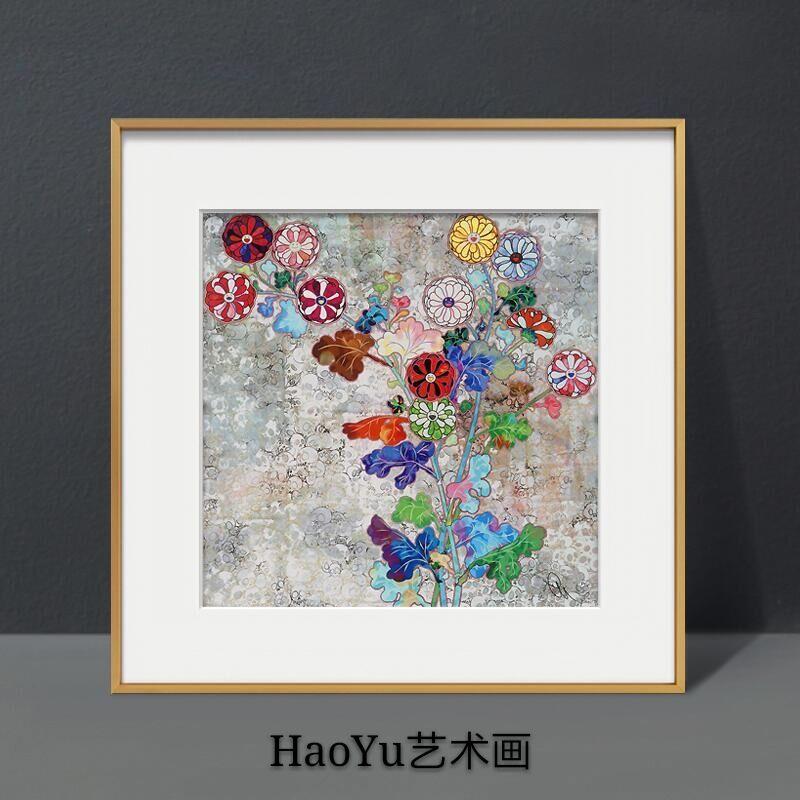 TAKASHI簽名限量村上隆版畫現代裝飾畫日本再生之花