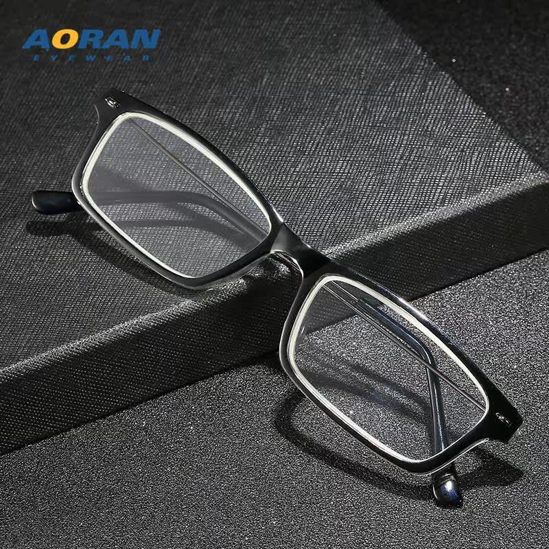 新款复古方框老花镜 男女用阅读镜 高清水晶玻璃老花眼镜
