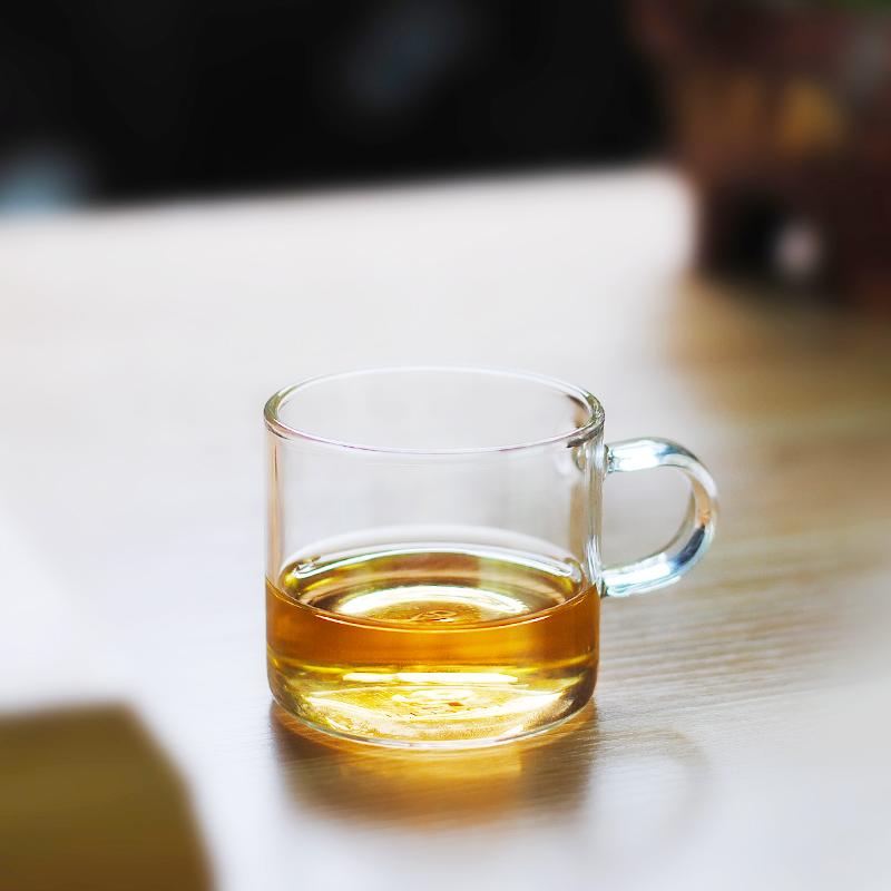 heisou 功夫小茶杯耐熱玻璃茶具杯子品茗杯150ML 4隻