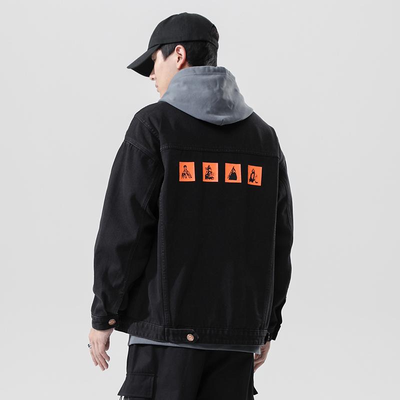 2021秋季大码牛仔夹克外套男休闲潮流韩版帅气上衣 JK08-P65