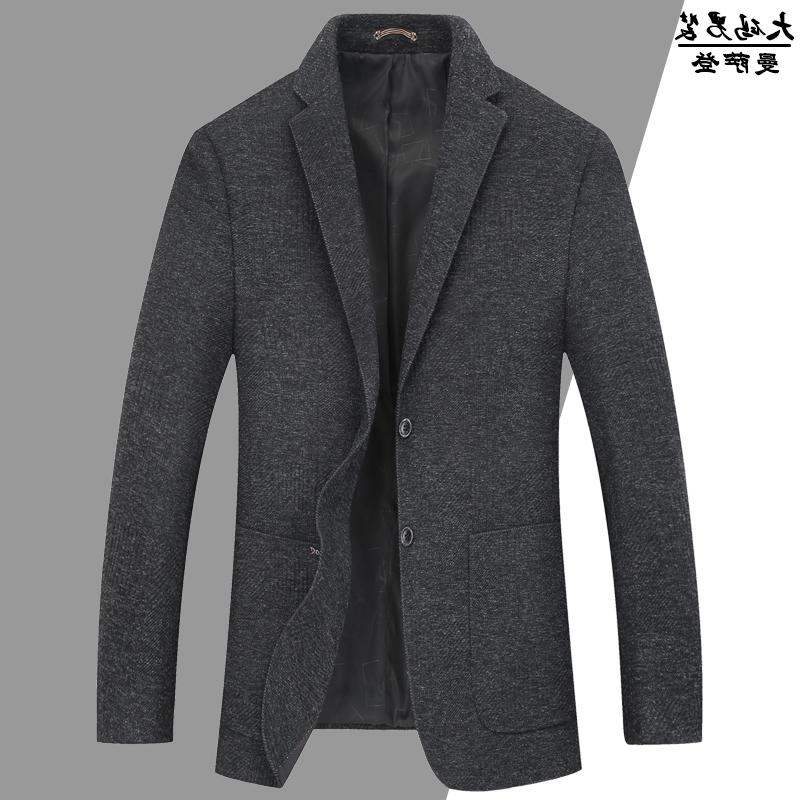 High grade brand autumn and winter mens suit large business formal dress plus fat and big show thin loose suit
