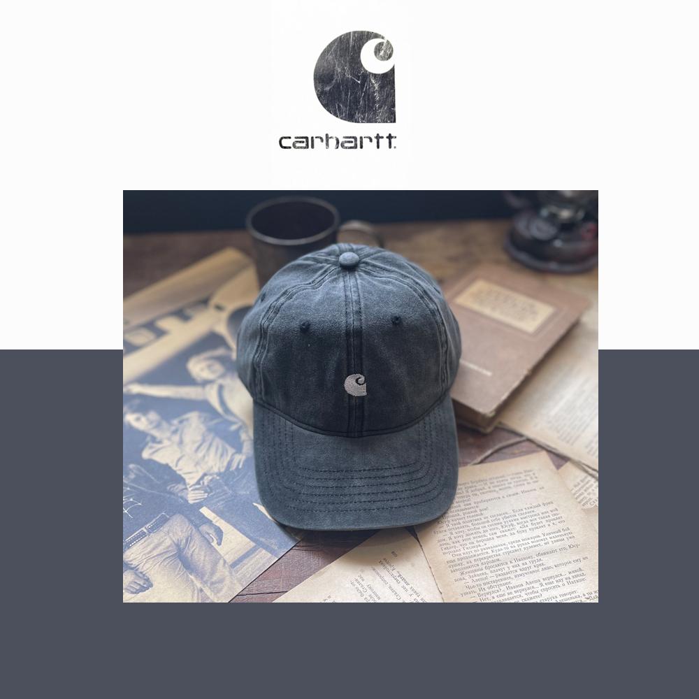 carhartt帽子美式卡哈特水洗做旧棒球帽软顶鸭舌帽男女夏季遮阳帽